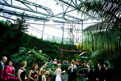 Wedding ceremony in a conservatory